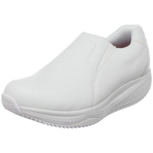 Skechers Shape Ups XW Encompass Damen Leder Fitness-Schuhe-White-39.5 (Skechers Shape Damen)