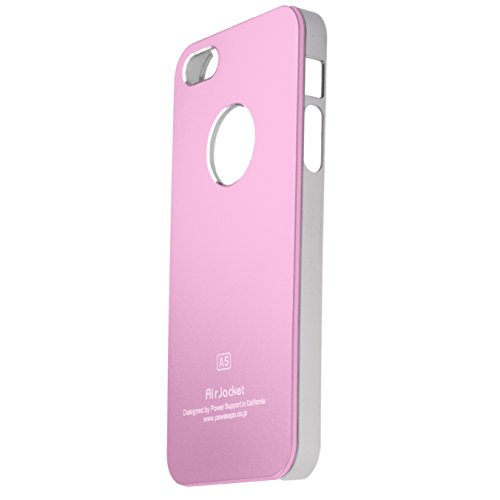 ALU- CASE Designer Schutzülle Case Cover iPhone 5 von HORNY PROTECTORS® Grau Rosa