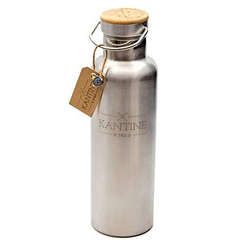 Kantine 51° Nord ® Isolierflasche Outdoor 750ml aus Edelstahl | 100% BPA-frei und nachhaltig | Gut für Kinder, Erwachsene und die Umwelt | Perfekter Begleiter für Kindergarten, Schule, Uni und Büro
