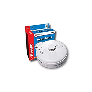 Aico Heat Alarm Ei144RC - Mains Powered with 9V Battery Back-up