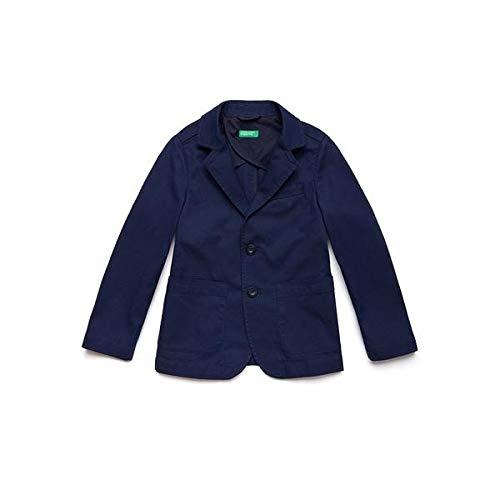 Benetton Giacca Abrigo, Azul BLU 901, 128 Talla del Fabricante: Medium para Niños