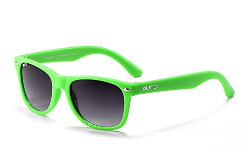 Miuno® Kinder Sonnenbrille Wayfare für Jungen und Mädchen Etui 2688 (Grün)
