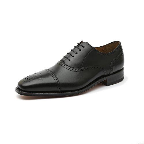 Gordon & Bros Lucquin 2830 Herren Businessschuhe, Schnürhalbschuhe, Anzugsschuhe, Derby Goodyear Leder Schwarz (Black), EU 41
