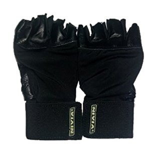 Nivia Gym Gloves with Wrist Wrap, Large (Black)  available at amazon for Rs.452