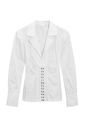 next Chemise effet corset Tall Femme Blanc