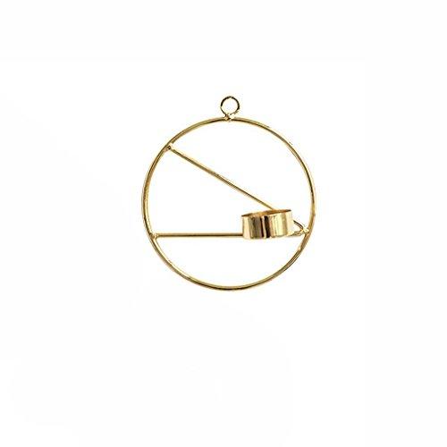 YUAN Goldene Geometrische Eisen Kerzenständer Dekoration Home Decor Kerzenhalter (Größe : A)