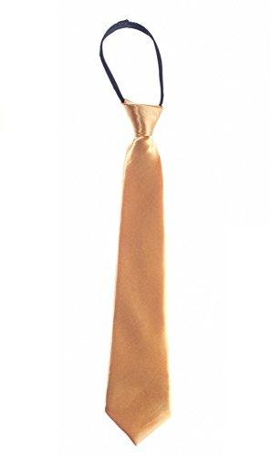 Kinder Jungen Baby Krawatte Binder Schlips Hochzeit Kommunion Konfirmation Party, Grösse Accessoire:Gross;Farbe:Gold