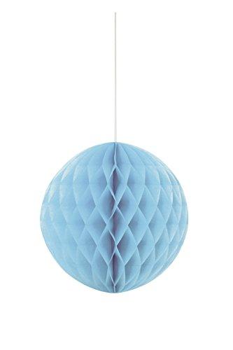 Unique Party Bola de papel de seda en forma de panal Color azul claro 20 cm 63221