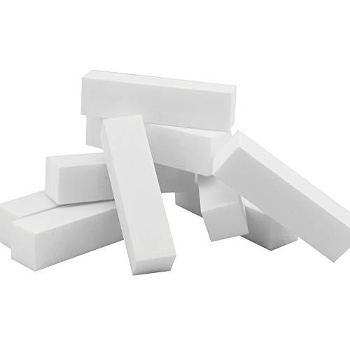 Naisicatar 15pcs Praktische Foam Sanding Files Ersatz Nail Art Puffer tragbare 4-Wege-Schleifklötze für Nagelpflege nützlich und schön