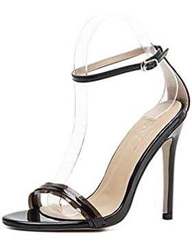 10.5 cm Cinturón clásico de la boda de tacón de aguja tobilleras abierto dedo del pie elegante verano señoras...