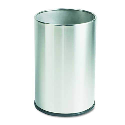 Rubbermaid Commercial Stainless Steel 5-Gallon European and Metallic Series Trash Can, Round, Stainless Steel