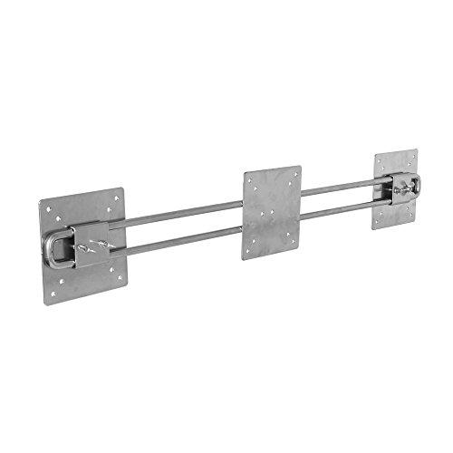 R-Go Tools Steel Wing für Zwei bildschirmen, Silber - Flat Panel Mount Accessories (Silber, 10 kg, 100 x 75 mm, Silber, 141 x 781 x 47 mm, 1,9 kg) -