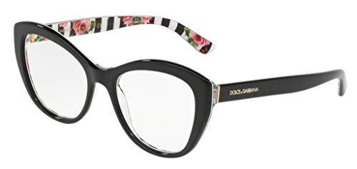Ray-Ban Damen 0DG3284 Brillengestelle, Schwarz (Black On Print Rose), 53
