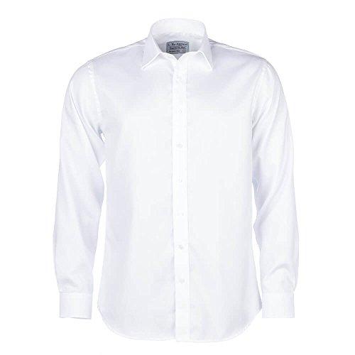 ALLBOW Smart Weiß Regular Fit Herren Hemd Ellenbogen Patches, Verschiedenen  Farben, 100% Baumwolle