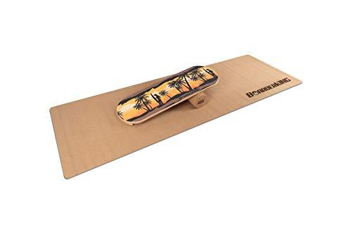 "Indoorboard \""BoarderKING\"" Hawaii Skateboard Surfboard Trickboard Balanceboard - surfen im Wohnzimmer (100 mm (Kork))"