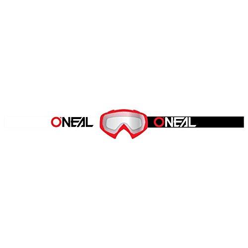 O'Neal B-10 Goggle Twoface Crossbrille Klar Motocross DH Downhill MX Anti-Fog Glas, 6024-21, Farbe rot