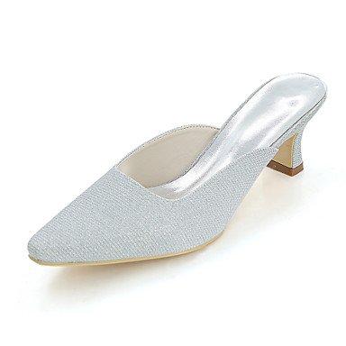 Wuyulunbi@ Scarpe donna Glitter Primavera Estate della pompa base di nozze blocco scarpe tacco punta quadrata per la festa di nozze & Sera Rosso Blu Argento oro nero Argento