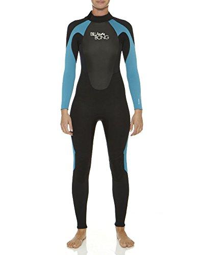 BILLABONG 403Launch LS Steamer Wetsuit, Mujer, Negro/Turquesa, 4