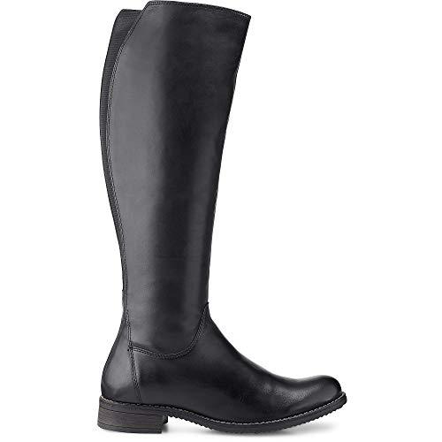Cox Damen Reiter-Stiefel Schwarz Leder 40 (Damen Reiter-stiefel)