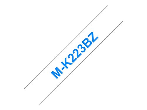 Brother MK223BZ Schriftbandkassetten weis blau 8mx9mm nicht laminiert für P-touch 60 65 75 80 85 110