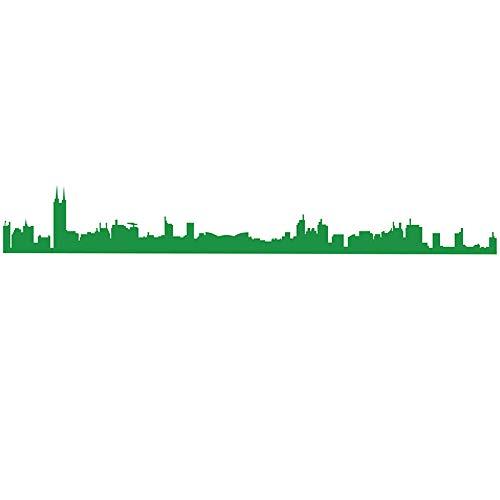 Sticker Mural 3D Autocollant Ligne De Taille De Verre De Papier Adhésif De Décoration De Mur De Bâtiment Adhésif De Mur De Silhouette De Salle De Conférence De Style, Style 2: Vert, Très Grand