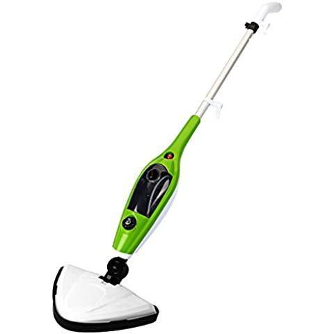 Scopa a Vapore, Yokkao Lavapavimenti a Vapore con [Set di Accessori 10 in 1] Steam-Mop Elettrica per la pulizia di Pavimento Tappeto Vetro (Verde) - Media Scope