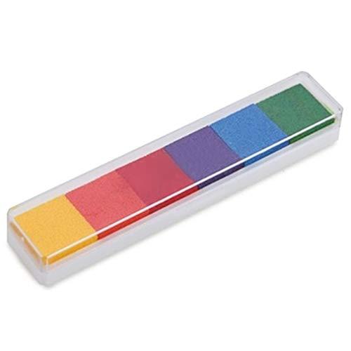 6 Farben Fingerabdruck Stempelkissen Ungiftig DIY Bunt Stempelkissen zum Stempel Kunst Scrapbooking Kartenherstellung von SamGreatWorld