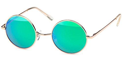 UVprotect® unisex Retro John Lennon Style Sonnenbrille grün W43-15
