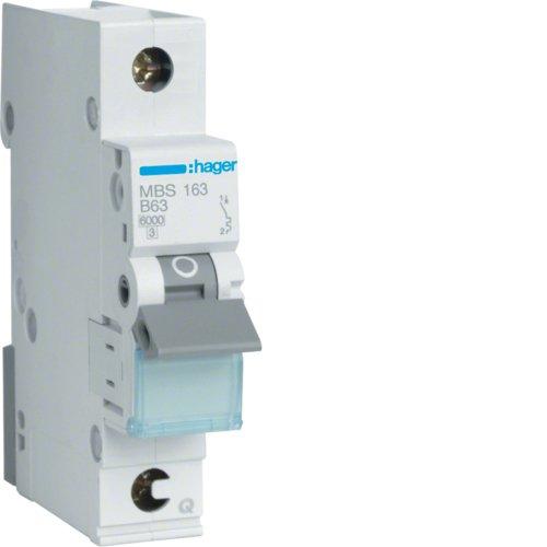 Preisvergleich Produktbild Hager MBS163 LS-Schalter 1P 6kA B-63A QC Quick Connect 1M
