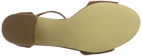 BIANCO Suede Sandal Jfm17, Sandali Donna Marrone (Light Brown)