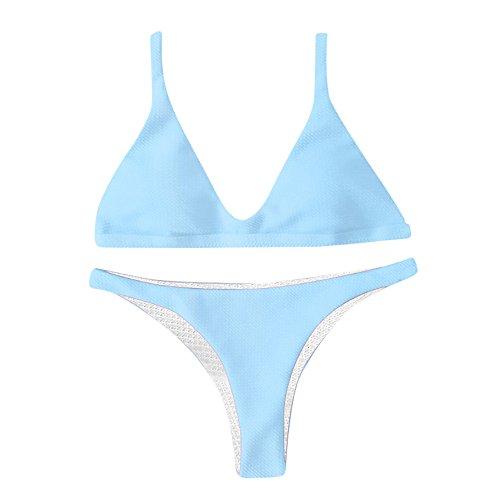bluestercool_1 Frauen Bikini 2 Stück Halfter Bandage Push Up Brasilianischer, Bikini Blumendruck Dreiecksbadebekleidung Strand Tankini Trikini Sommer Frau Strandkleid (Die Katze Pikachu Für Kostüm)