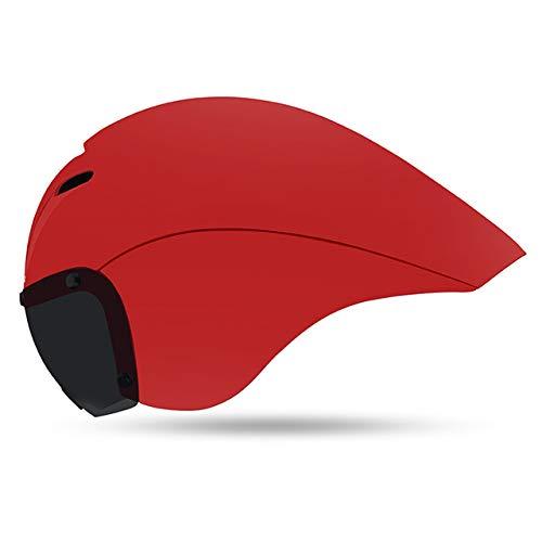 DGHHUFAHF Fahrradhelm Magnetbrillen Rennradhelm Triathlon Zeitfahrhelm Pneumatische Tt Fahrradhelm Kappe