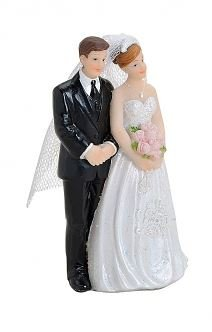 WeddingCouple -Bridal couple Cake Topper Decorative Figure for the Wedding 6X4X11CM, Variante 2