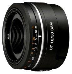 Sony SAL50F18 Obiettivo con focale fissa DT 50 mm F1.8 SAM, Nero