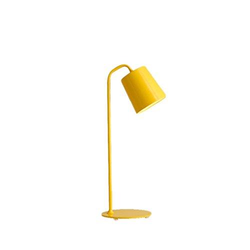 vische moderne einfache Süßigkeit-Farbe kreative geführte Schreibtisch-Tabellen-Lampe personifizierte Büro-Auge, die Leselampe lernt ( Farbe : Gelb ) ()