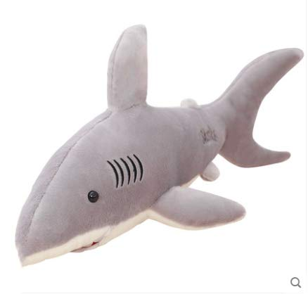 reifen Schlafkissen Big White Shark Simulation Kinder Geschenk Junge Puppe Puppe Nette 50 Cm ()