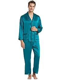 8c735173ce LilySilk Seide Pyjama Herren Zeitlos Klassischer Schlafanzug Nachtwäsche  für Stilbewusste Männer 22 Momme Verpackung MEHRWEG