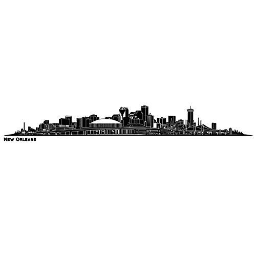 Wandkings Skyline - Deine Stadt wählbar - New Orleans - 125 x 15 cm - Wandaufkleber Wandsticker Wandtattoo (Von Orleans Skyline New)
