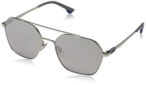Police Herren Vibe 2 Sonnenbrille, Grau (Shiny Palladium/Grey), 57.0