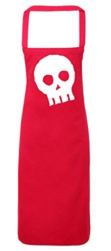 hippowarehouse Halloween Skull Schürze Küche Kochen Malerei DIY Einheitsgröße Erwachsene, fuchsia pink, (Boo Kostüme Diy)