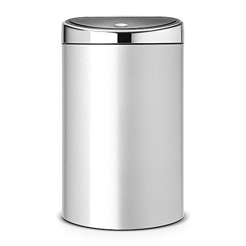 Brabantia Touch bin Metallic Grey mit Kunststoffeinsatz 40 Liter 40-liter Touch Bin