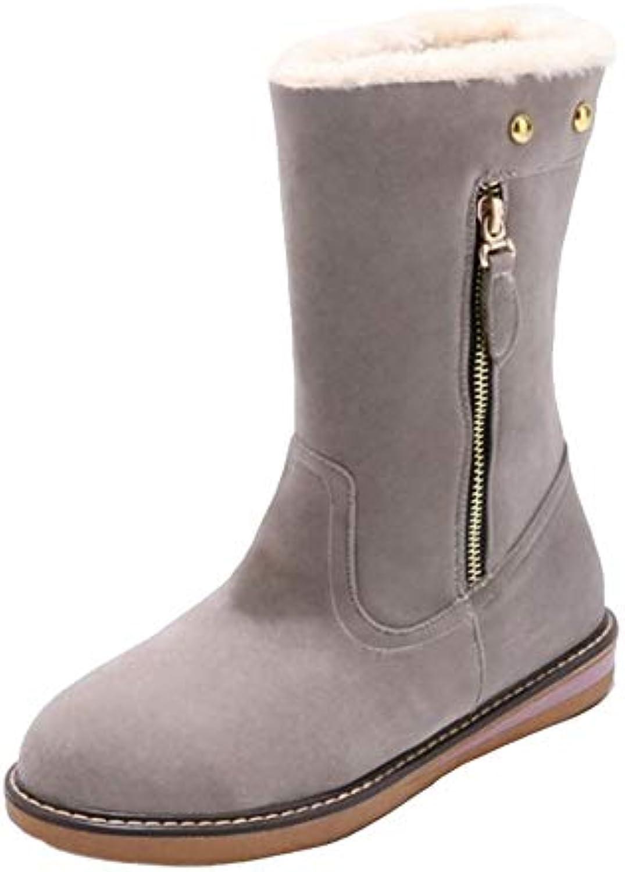 f38266b734f CHICMARK Boots Women Mid-Calf Flat Boots Flat CHICMARK B07GV9NTVQ Parent  b2de89c