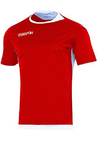 T-Shirt Sportiva Traspirante Maglietta da Calcio Calcetto Macron Kelt Shirt Rosso/Bianco