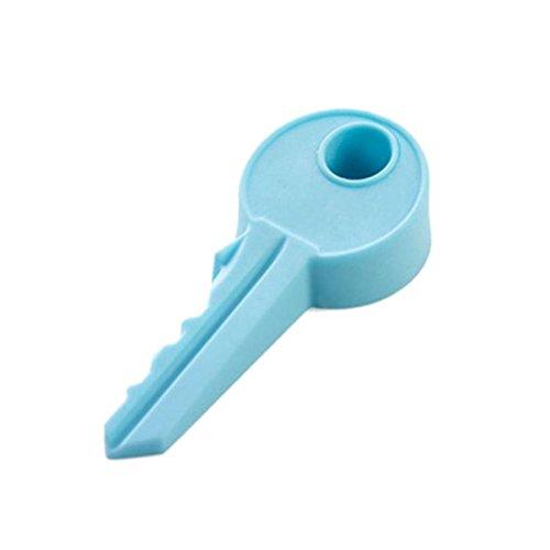 Sukisuki Silikon Tür Stopper Keil Gummi Schlüssel, Stopper für Baby-Schutz, Silikon, blau, Einheitsgröße (Keil-schlüssel)