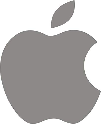 Sah Decor Apple Logo for Laptop (Vinyl, 5 x 6 cm, Multicolour)