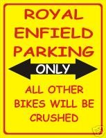 1885 ROYAL ENFIELD EXTRA GRANDES PARKING DE MOTOS SOLO EL METAL PUBLICIDAD SIGNO DE PARED RETRO ART