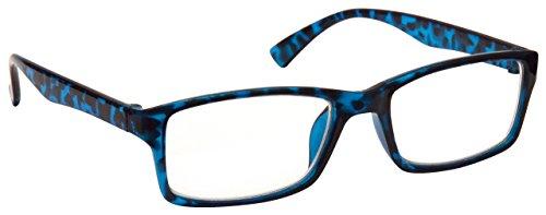 Blau Schildpatt Kurzsichtig Fernbrille Für Kurzsichtigkeit Designer Stil Herren Frauen M92-3 Dioptrien -2,50