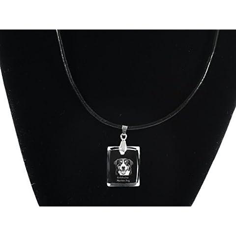 Perro de montaña de Entlebucher, Collar de cristal de perro, colgante, de alta calidad