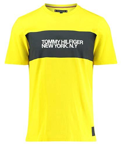Tommy Hilfiger Herren T-Shirt Big Scale Relaxed Fit orange (33) L