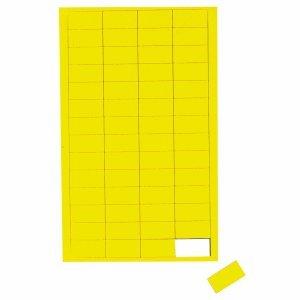 Magnetsymbole Rechteck, 56 St./Btl., Farbe: gelb